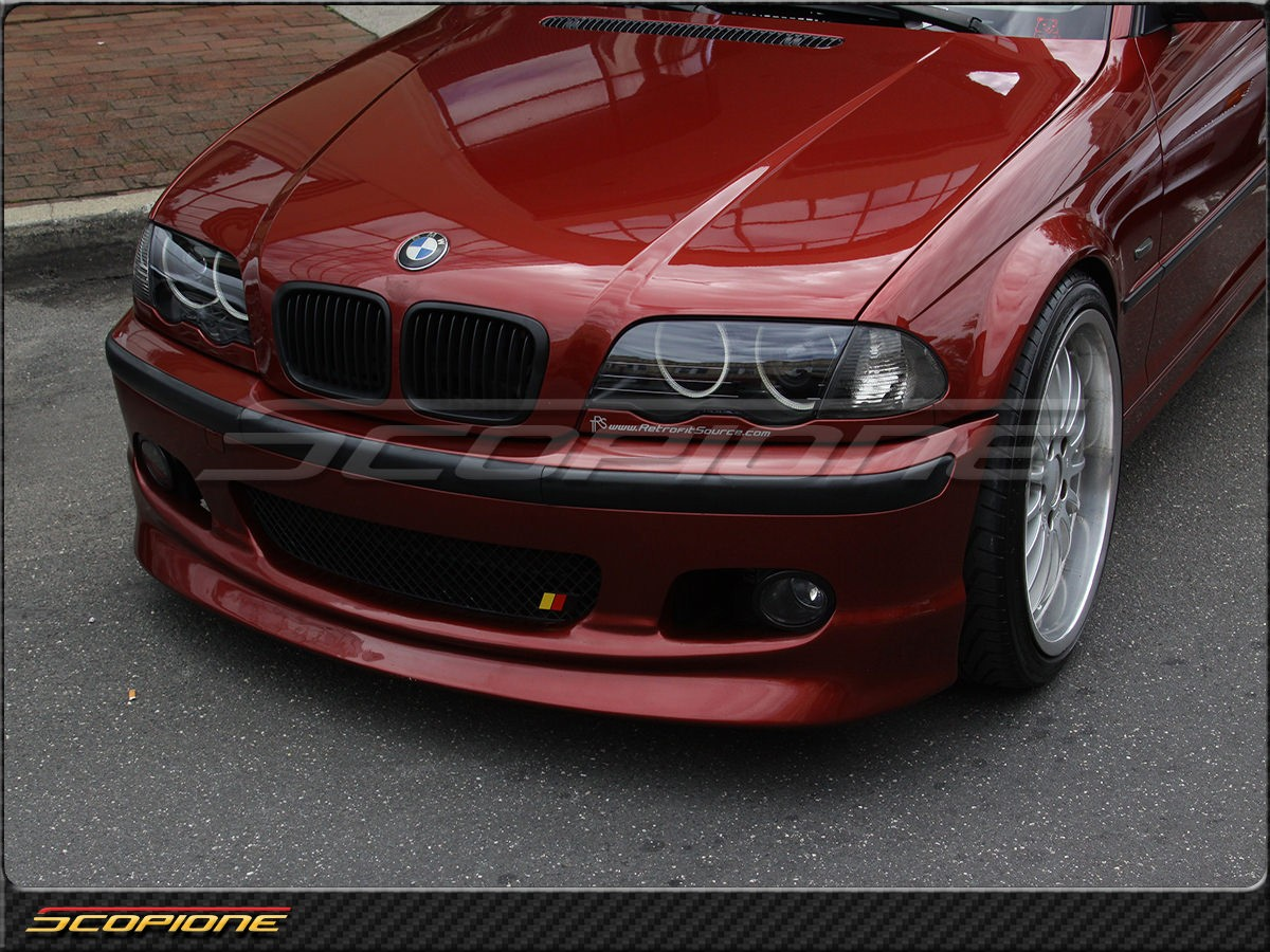 Scopioneusa Com Scopione Matte Black Kidney Grille For Bmw 99 01 4dr 3 Series E46 Not M3