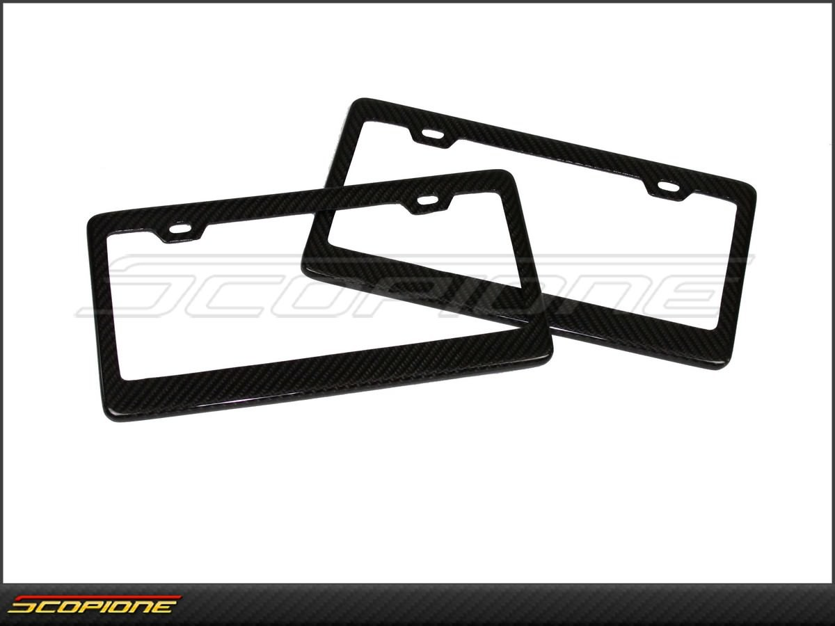ScopioneUSAcom Set Of License Plate Frames In Carbon Fiber For - Audi license plate frame