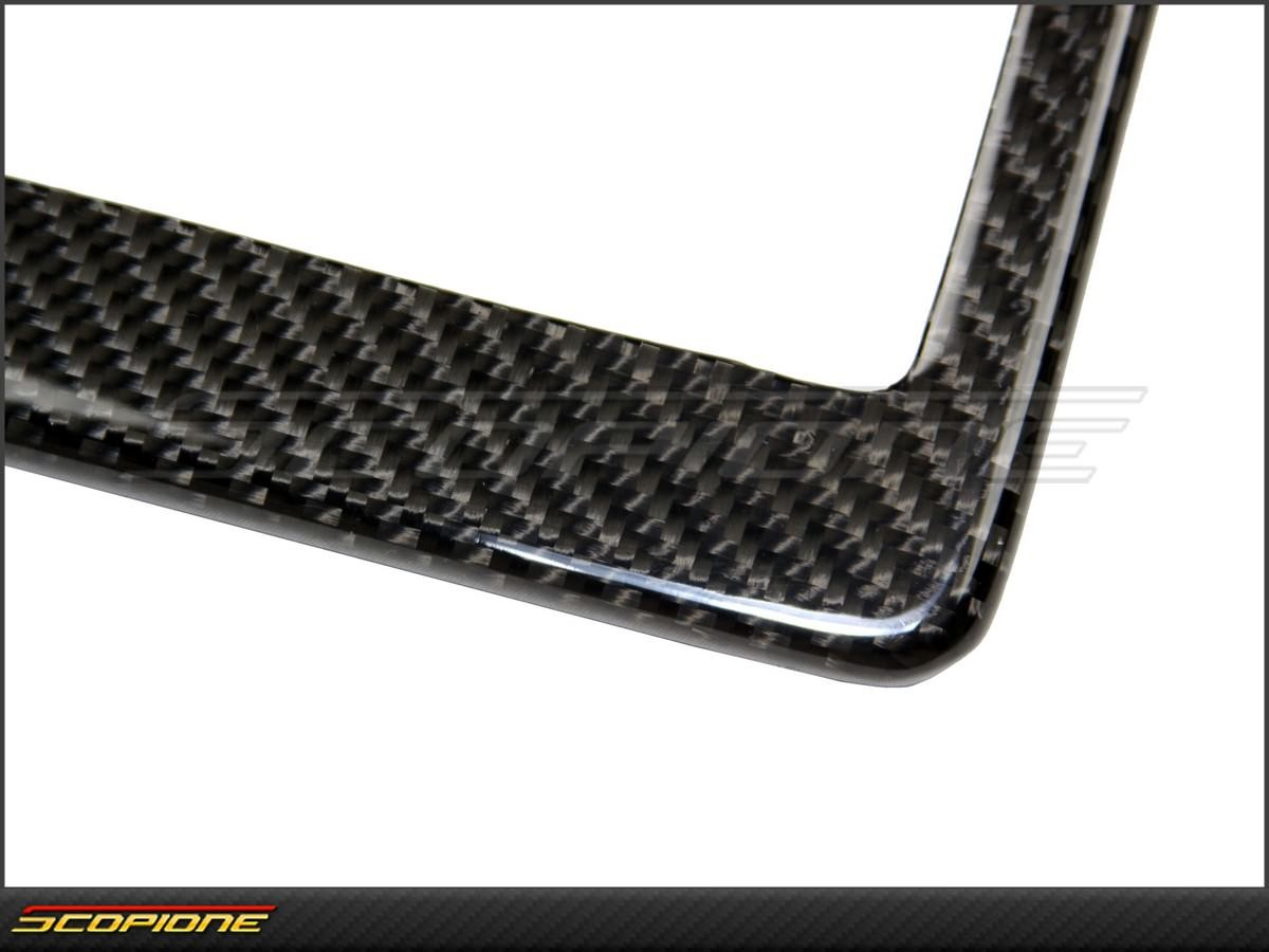 License Plate Frame In Carbon Fiber   For United States   USA