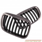 Scopione Black Chrome Kidney Grille for BMW 00-03 X5 - E53