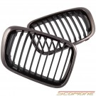 Scopione Black Chrome Kidney Grille for BMW 99-01 4dr 3 Series - E46 (Not M3)