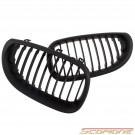Scopione Matte Black Kidney Grille for BMW 04-10 5 Series - E60 E61 M5