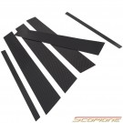Scopione Carbon Fiber Door Pillars for BMW 12-19 5dr 1 Series - F20