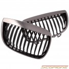 Scopione Black Chrome Kidney Grille for BMW 04-07 1 Series - E87