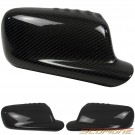 Scopione GLOSSY Carbon Fiber Mirror Covers for 99-06 BMW 2 Door 3 Series - E46