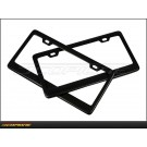 Set of License Plate Frames in Carbon Fiber - for United States - USA