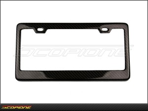License Plate Frame in Carbon Fiber - for United States - USA