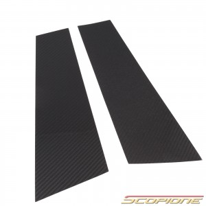 Scopione Carbon Fiber Door Pillars for AUDI 07-16 4dr A5 S5 8TA - Sportback