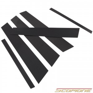 Scopione Carbon Fiber Door Pillars for BMW 04-11 5dr 1 Series - E87