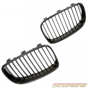 Scopione Carbon Fiber Kidney Grille for BMW 08-12 1 Series - E81 E87