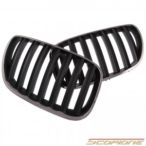 Scopione Black Chrome Kidney Grille for BMW 04-06 X5 - E53