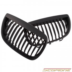 Scopione Matte Black Kidney Grille for BMW 04-07 1 Series - E87