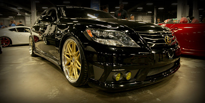 Lexus with customized rims